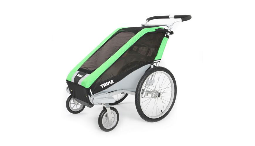 Thule Chariot Cheetah 1 + Strolling Kit fietsaanhanger groen/zwart